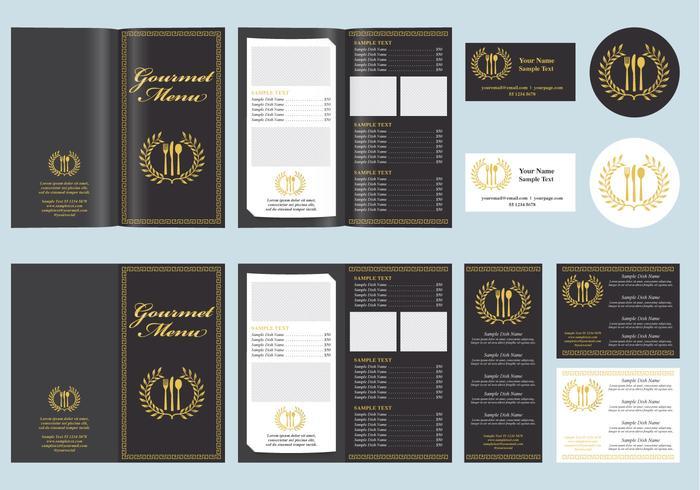 Gastronomisch menu vector