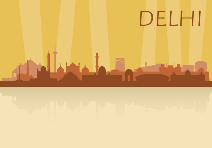 Skyline de delhi vetor