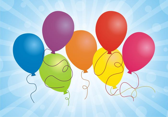 Set Of Balloons Free Vector