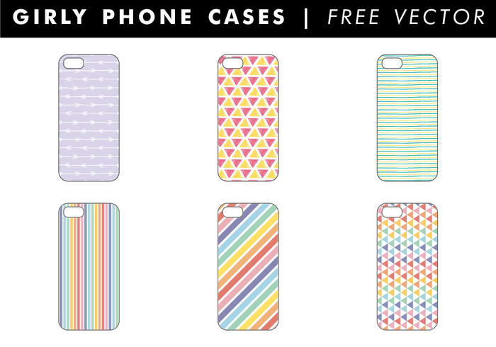 Girly Phone Cases Free Vector