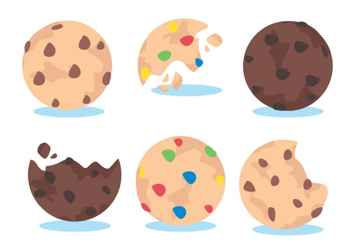 Ensemble de vecteur de cookies