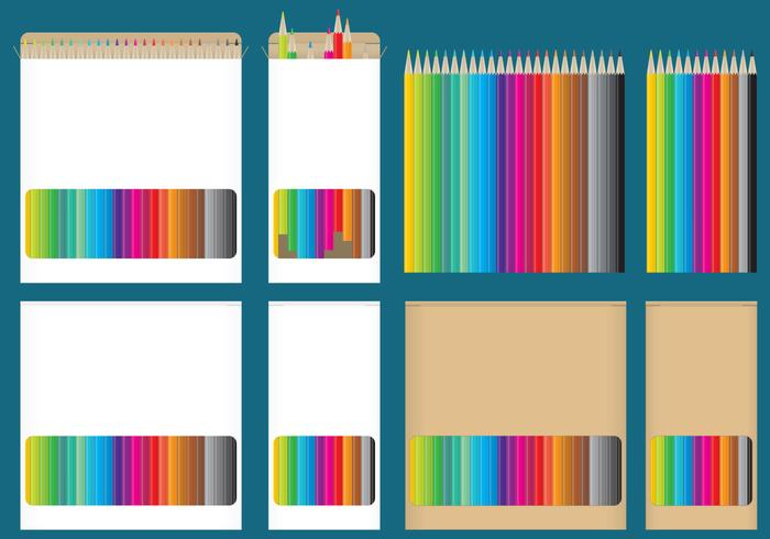 Färgpenna lådor