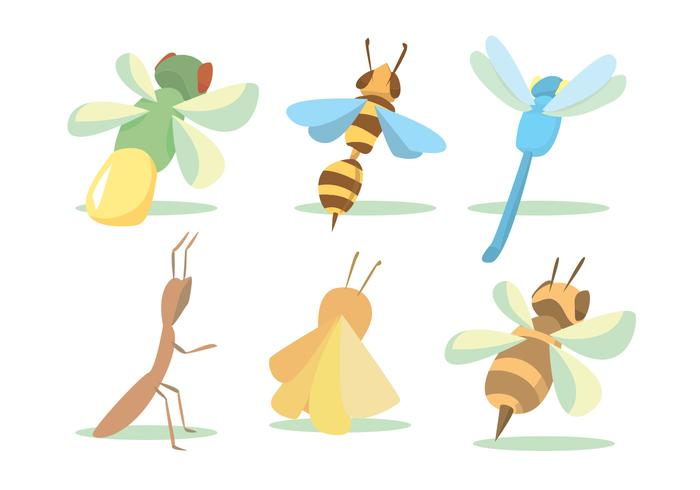 Flying Bug Vector Set