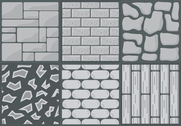 Collection of Stone Path Styles in Vector