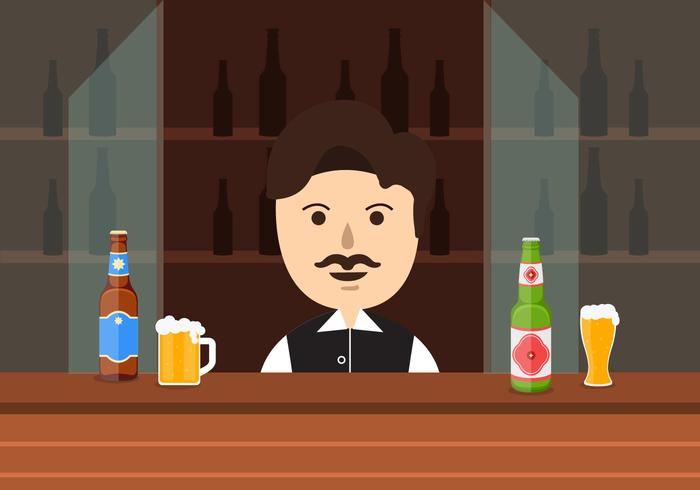 Barman Vector