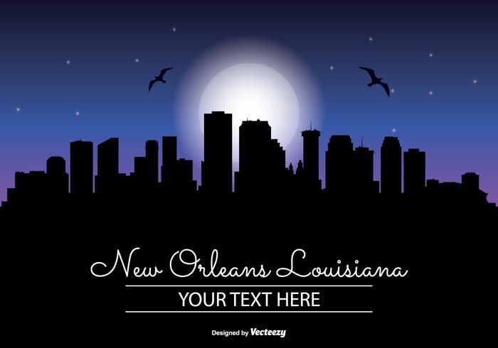 New Orleans Night Skyline
