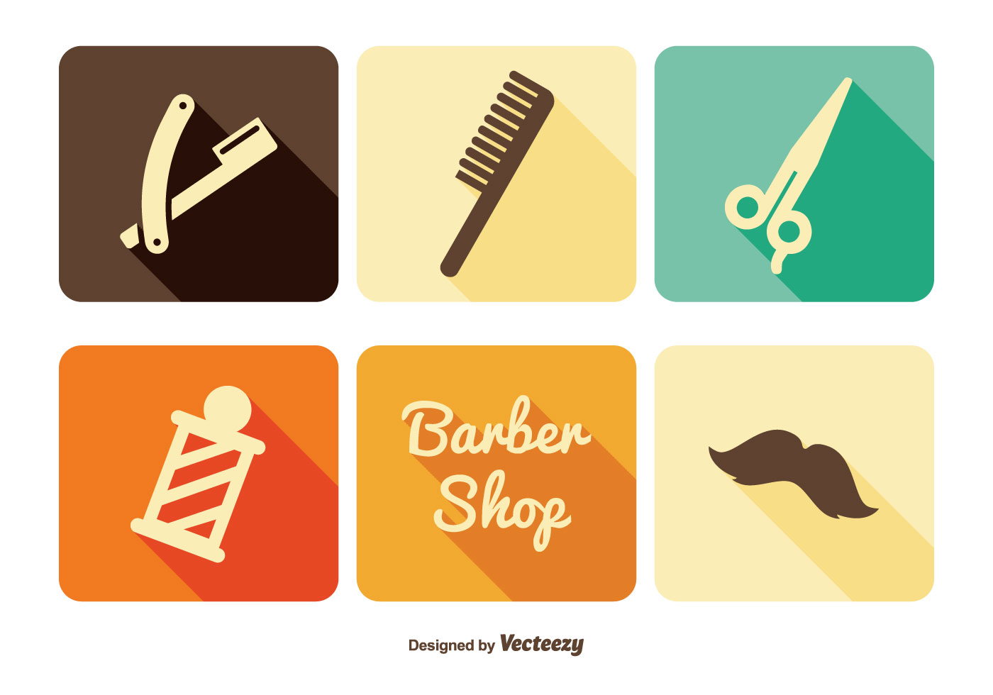Barber Shop Icon Set Download Free Vector Art Stock