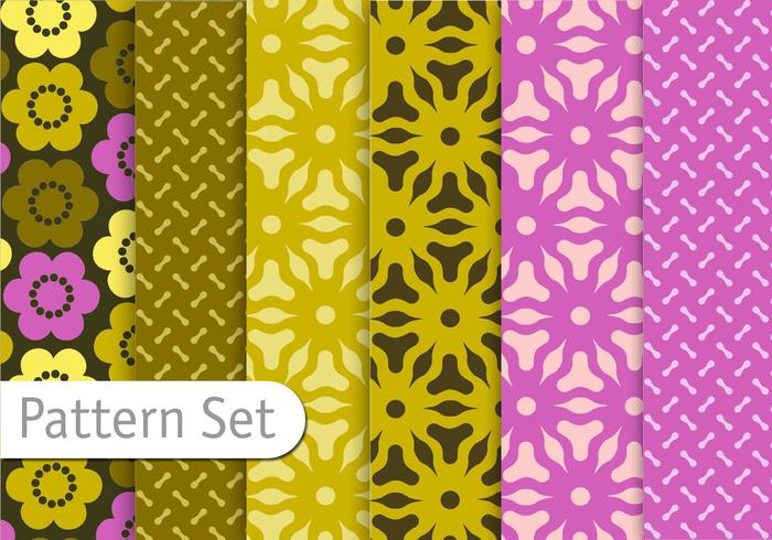 Floral Geometric Pattern Set