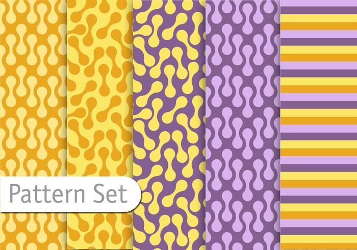Conjunto de padrões decorativos coloridos decorativos