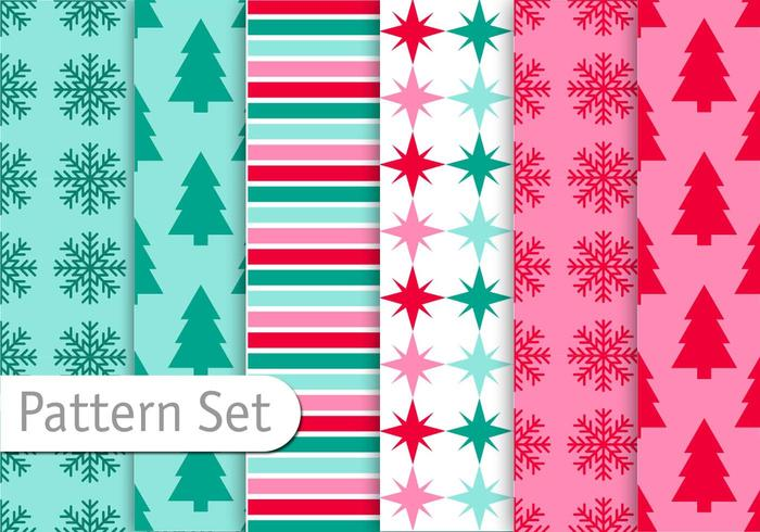 Conjunto de patrones de Navidad Decoratice