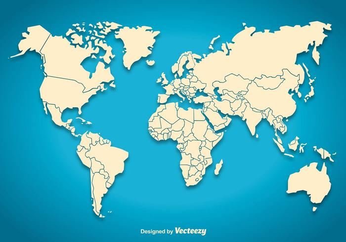 World Map Silhouette Download Free Vector Art Stock Graphics Images - Green and blue world map