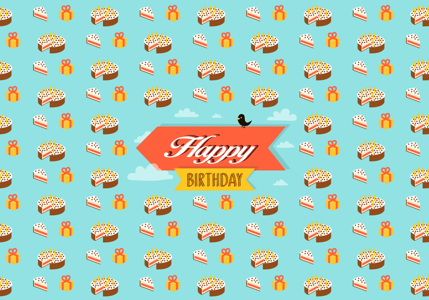 Birthday pattern background - Download Free Vector Art ...