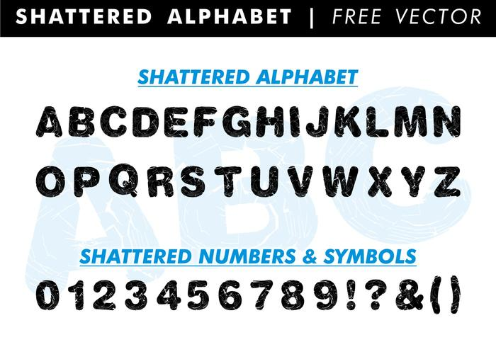 Shattered Alphabet Free Vector