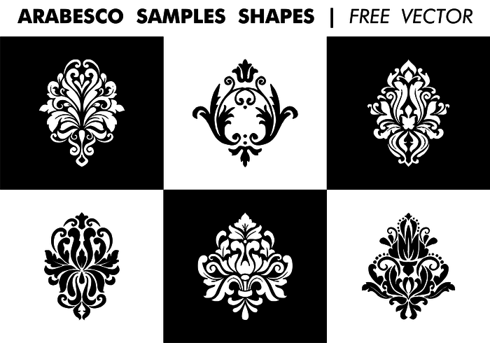 Arabesco Sample Shapes Free Vector