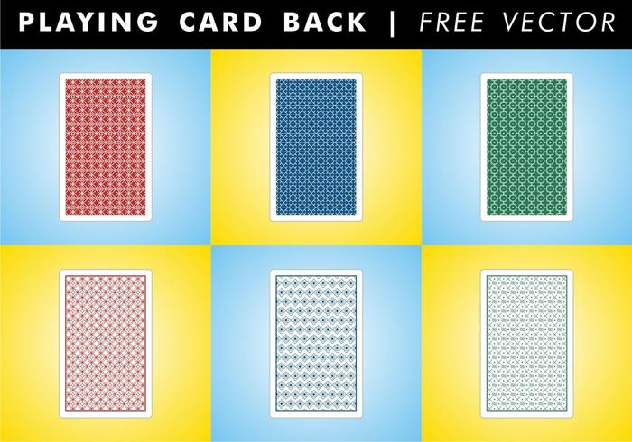 Playing Card Back Free Vector