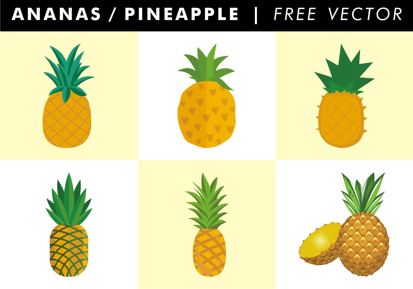 Ananas / Pineapple Free Vector - Download Free Vector Art ...