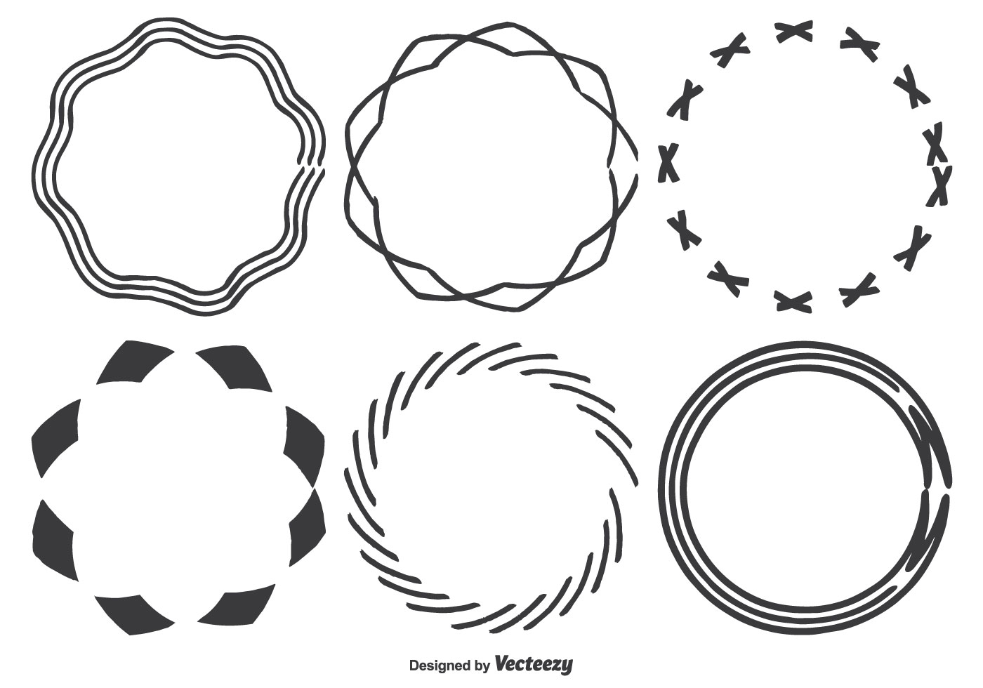 Hand Drawn Frame Shapes - Download Free Vector Art, Stock ...