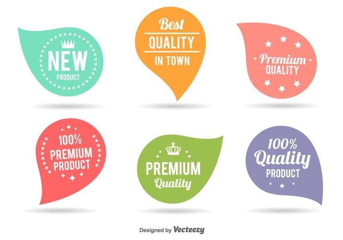Etiquetas lindas de melhor qualidade vetor