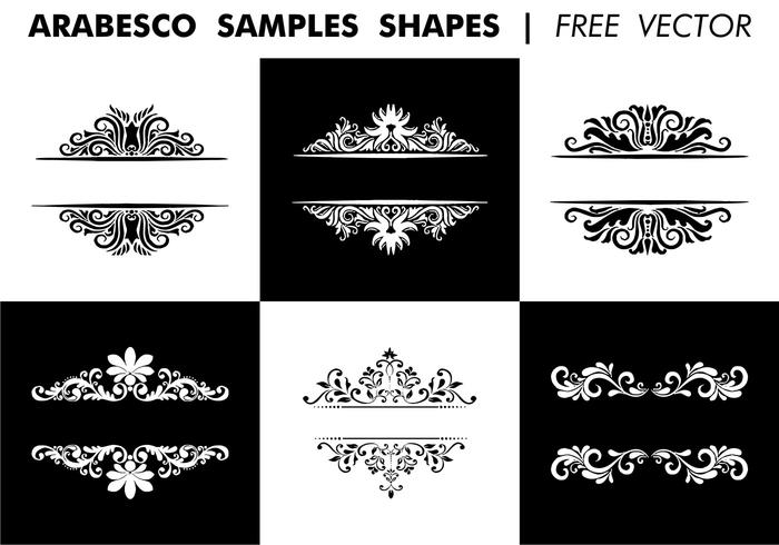 Arabesco Sample Shapes Vector