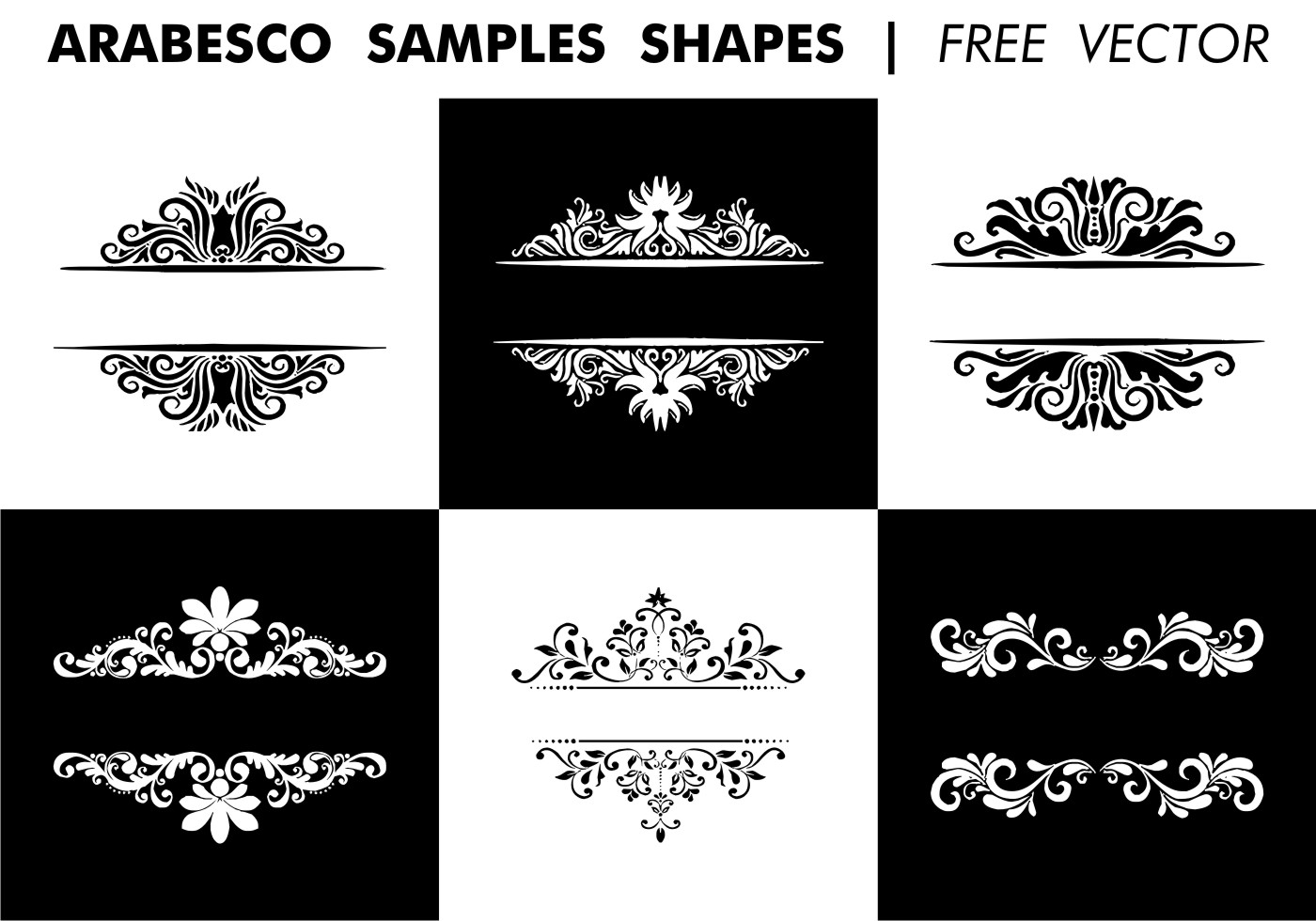 Arabesco Sample Shapes Vector Download Free Vector Art