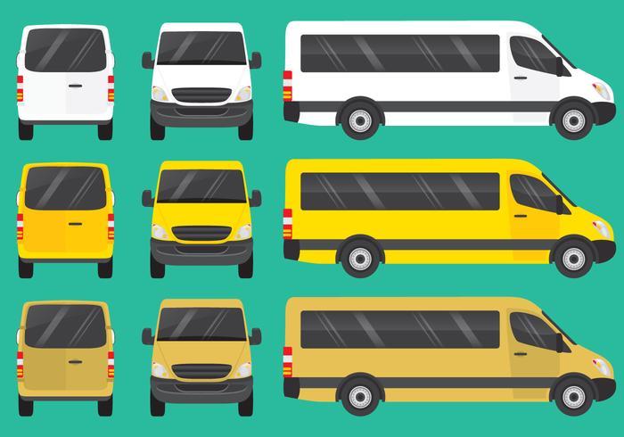 Mini bussar vektor