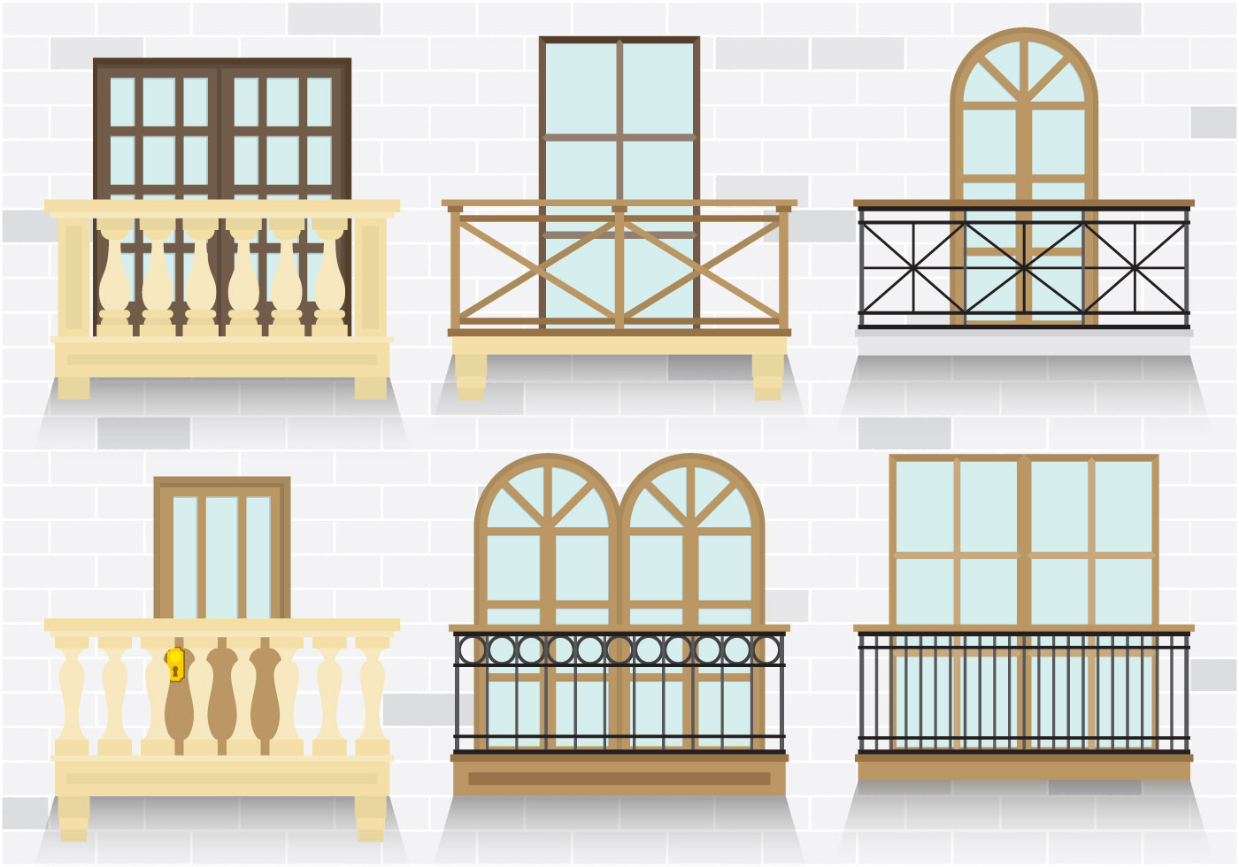 Colorful balcony vectors download free vector art stock for Balcony clipart