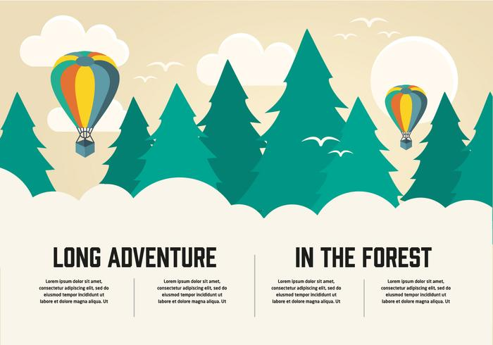 Free Flat Long Adventure Vector Background