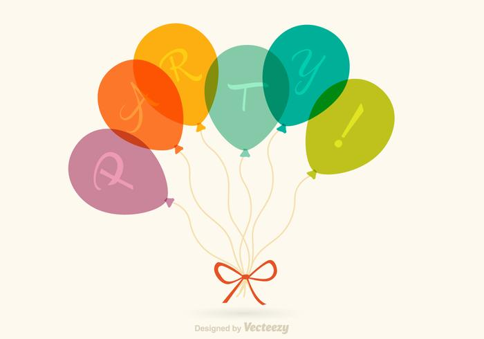 Free Party Balloons Vector