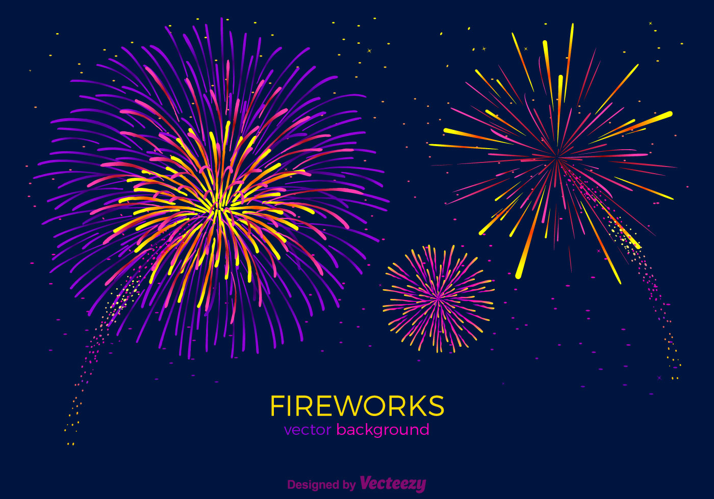 Free Fireworks Vector Background - Download Free Vector Art, Stock ...