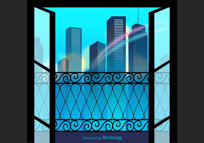 Free City View Vector Illustration