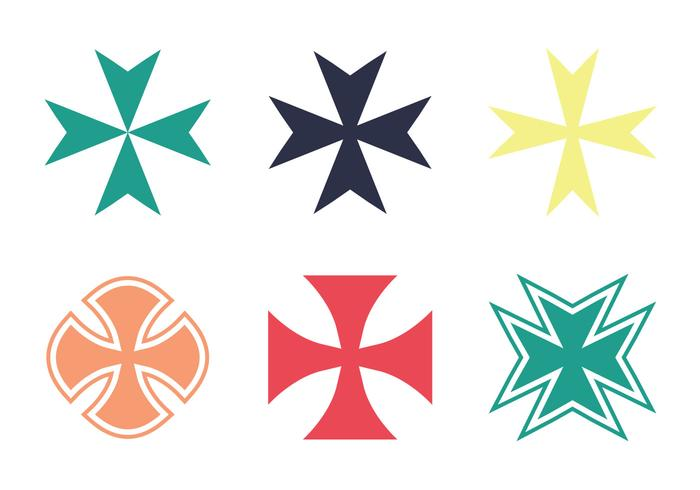 Free Maltese Cross Vector Icon