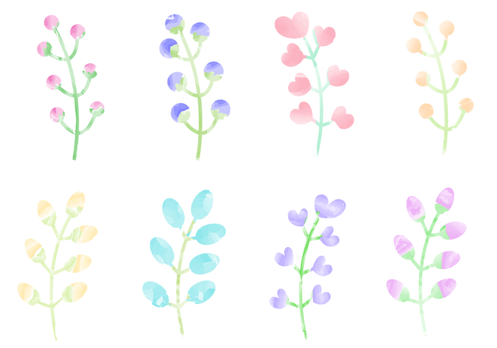 Free Watercolor Plants Vector