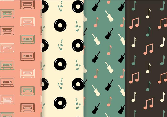Vetor de padrão de música livre