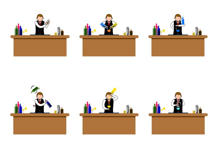 Barman Vector grátis
