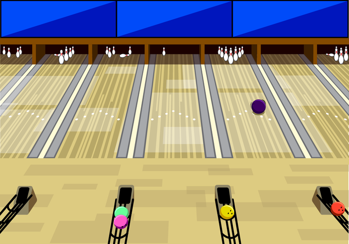 Free Bowling Alley Background Vector
