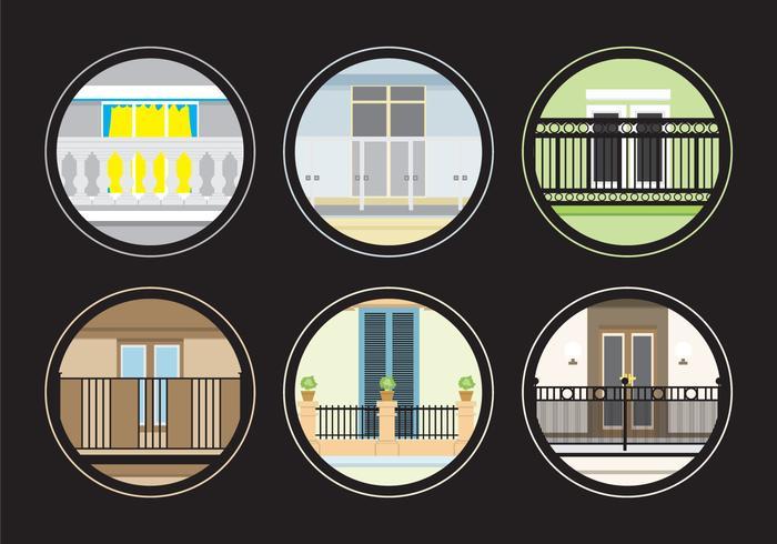 Varios balcones vector