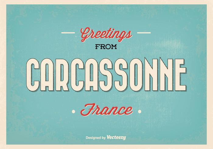 Carcassonne Frankrike hälsning illustration