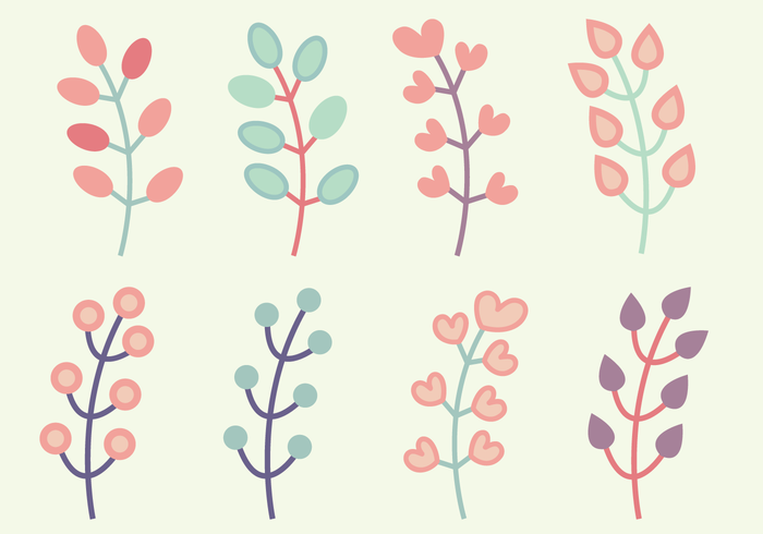 Gratis Floral Elements Vector
