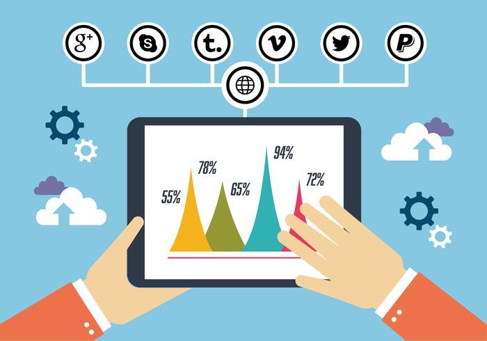 Flat Digital Marketing Vector