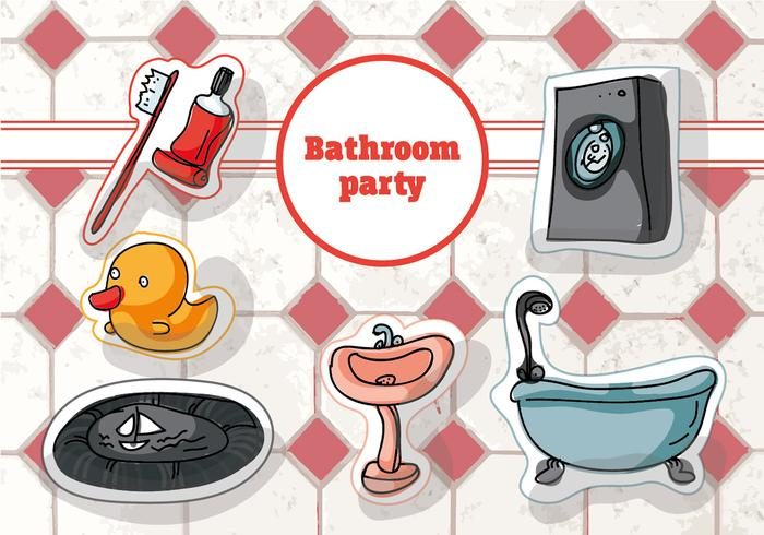 Free Hand Drawn Bathroom Vector Background