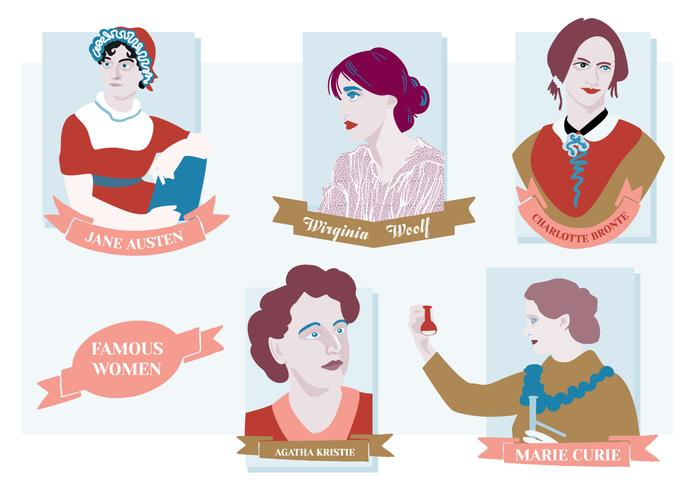 Free Famous Women Vector Background