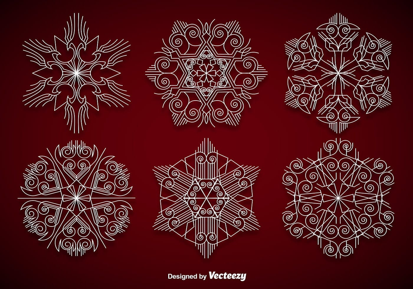 Elegant Christmas Background With Snowflakes Stock Vector: Download Free Vector Art, Stock