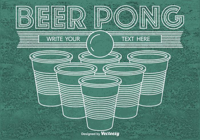 Beer pong background