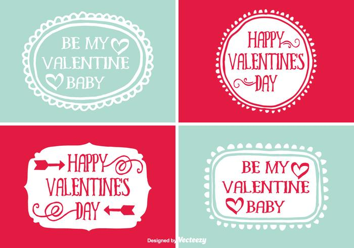 Cute Hand Drawn Style Valentines Day Labels Download Free – Valentine Day Label