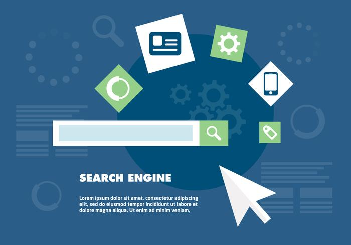 Free Search Engine Optimization Vector Background