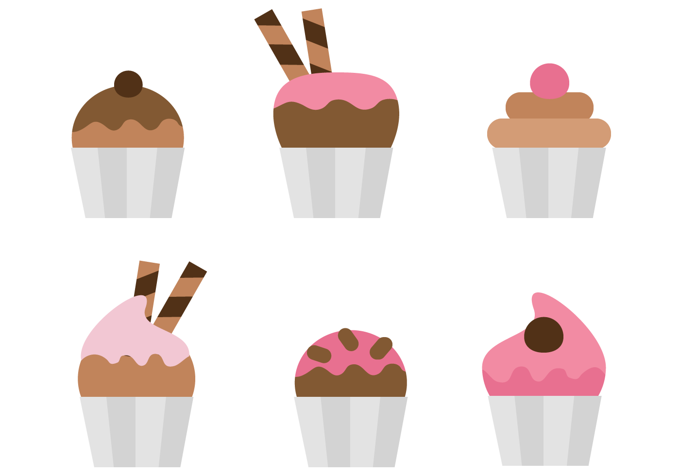 Cupcake Vector Art : Free Cupcakes Vector - Download Free Vector Art, Stock ...