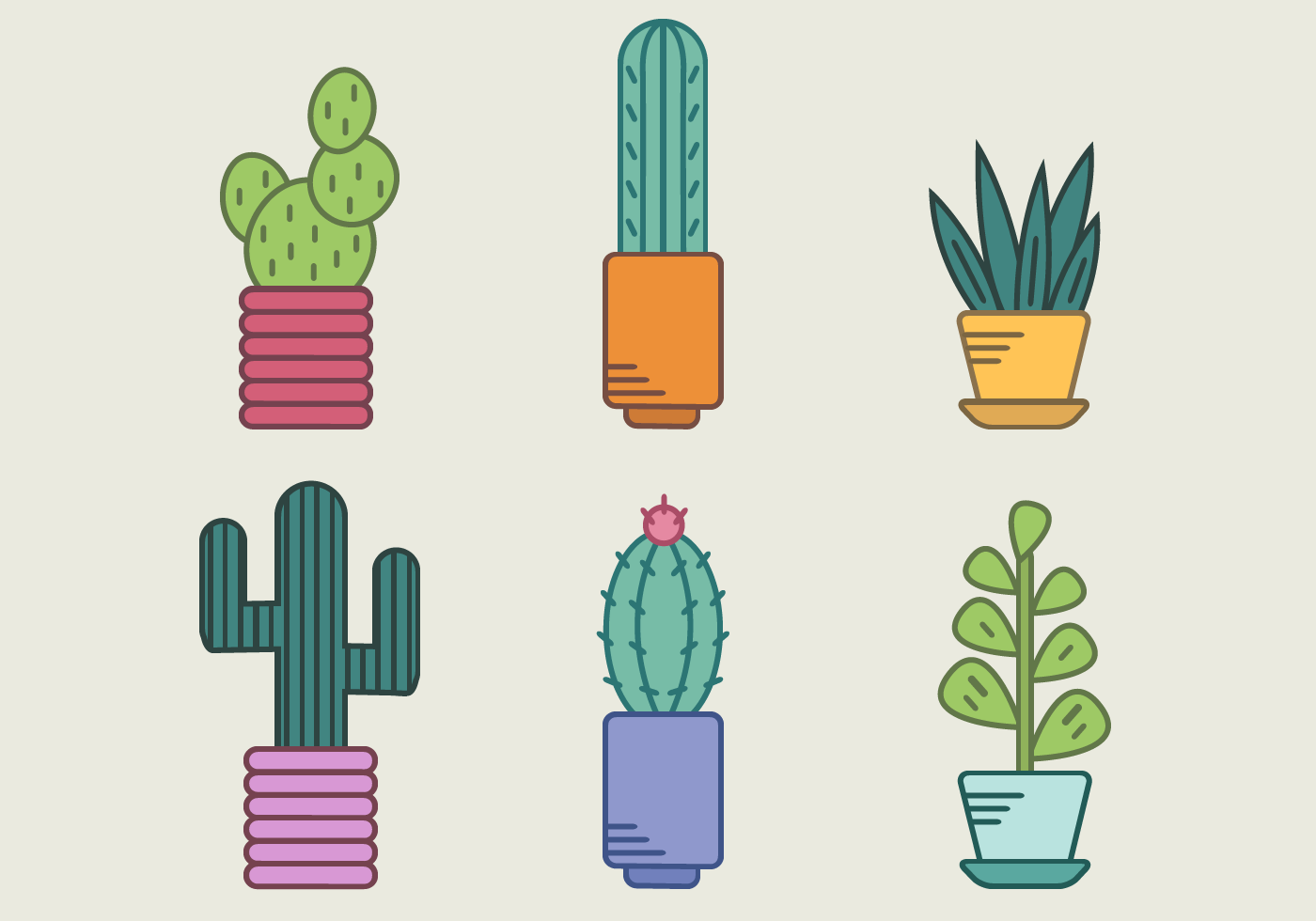 Free Cactus Vector - Download Free Vector Art, Stock Graphics & Images