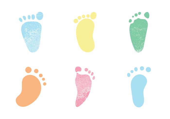 Free Baby Footprints Vector illustrations