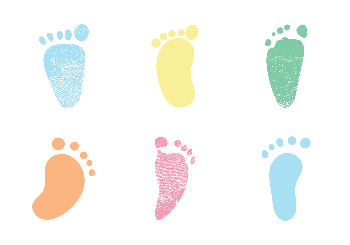 Free baby footprints vector illustrations download free for Baby footprints cake decoration