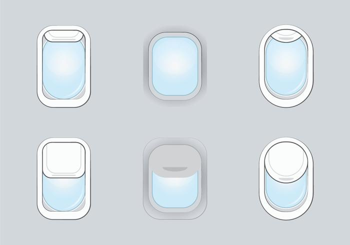 Free Plane Window Vector Illustration